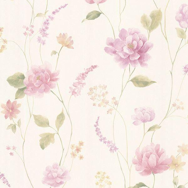 Hanne Purple Floral Pattern