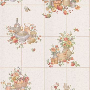 Pajer Mauve Vintage Fruit Tile