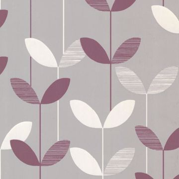 Ernst Purple Linear Leaf