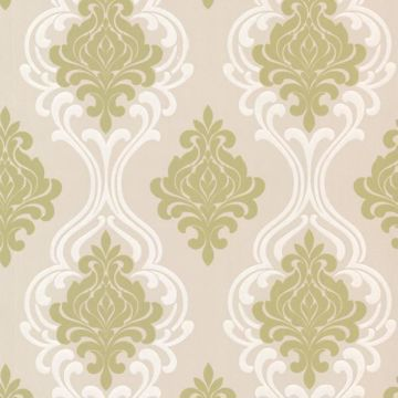 Indiana Light Green Damask