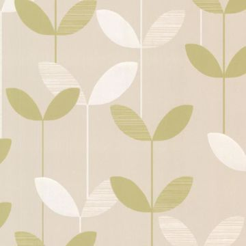 Ernst Light Green Linear Leaf