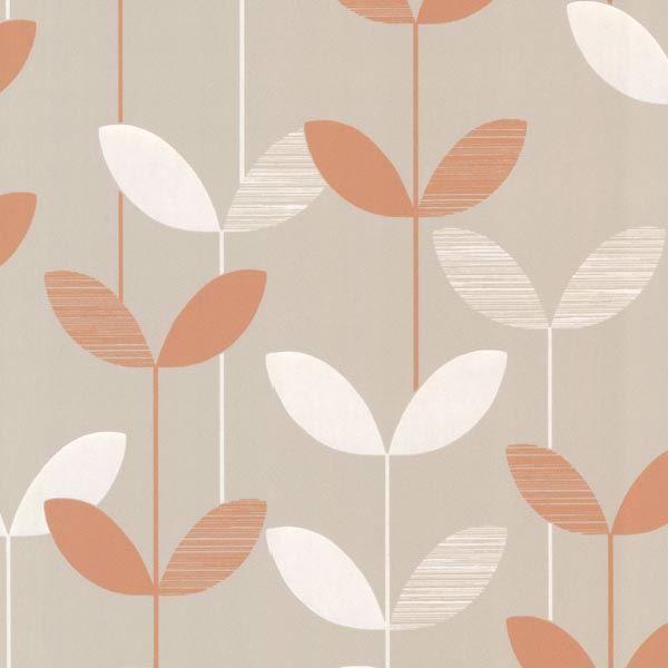 Ernst Orange Linear Leaf