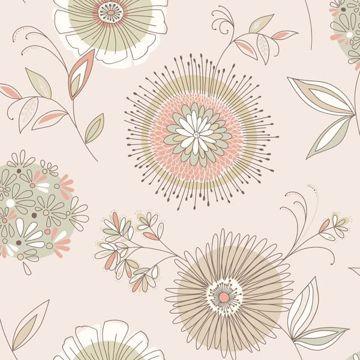 Maisie Beige Floral Burst