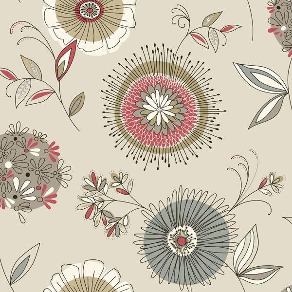 Maisie Taupe Floral Burst