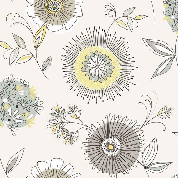 Maisie Grey Floral Burst