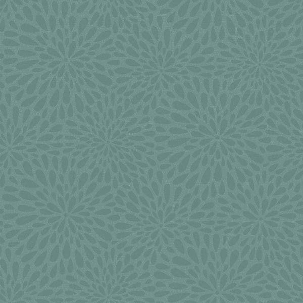 Calendula Teal Modern Floral