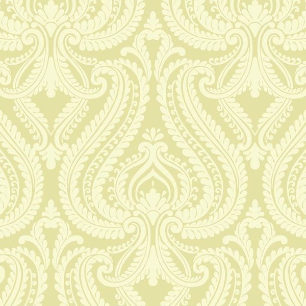 Imperial Green Modern Damask