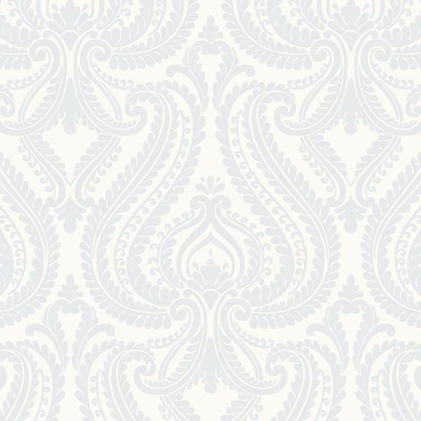 Imperial Blue Modern Damask