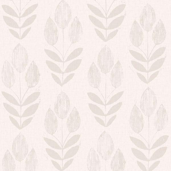 Scandinavian Grey Block Print Tulip