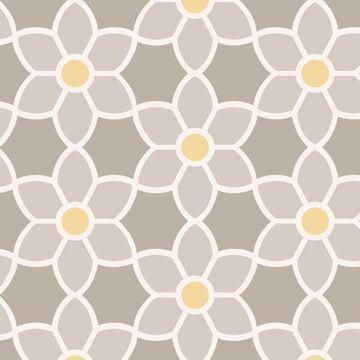 Blossom  Grey Geometric Floral