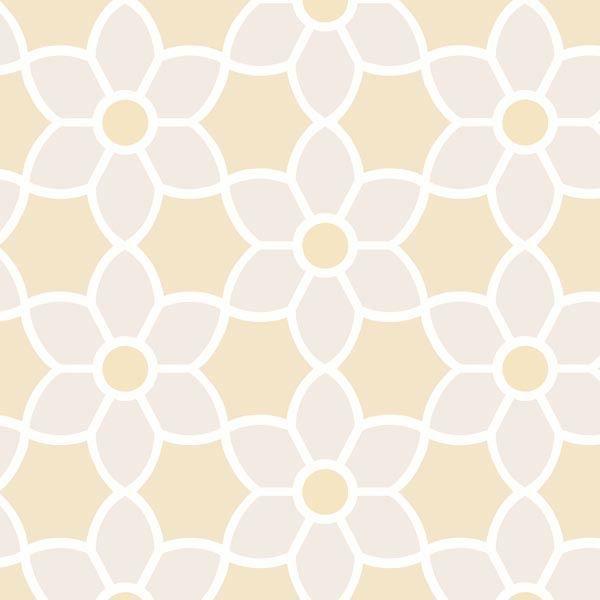 Blossom  Beige Geometric Floral