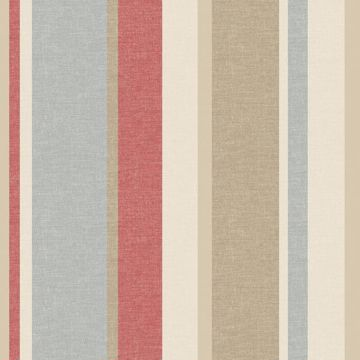 Raya Red Linen Stripe