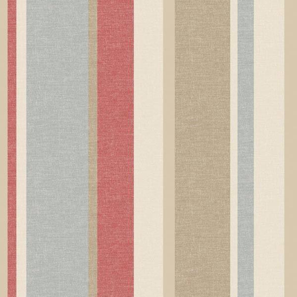 Raya Red Linen Stripe