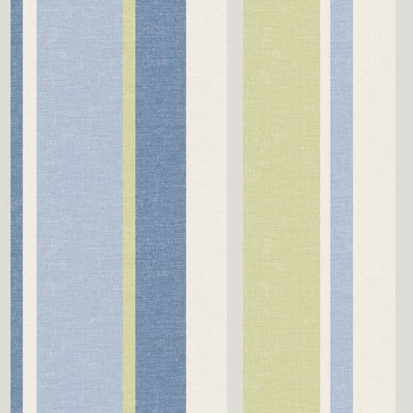 Raya Blue Linen Stripe