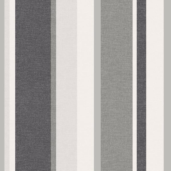 Raya Black Linen Stripe