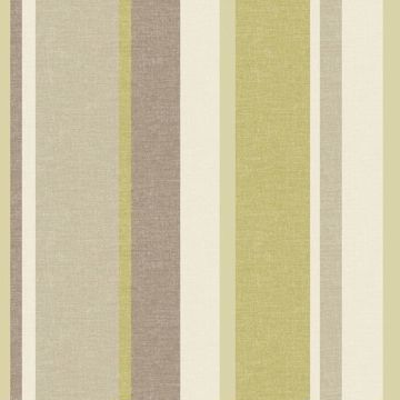 Raya Green Linen Stripe