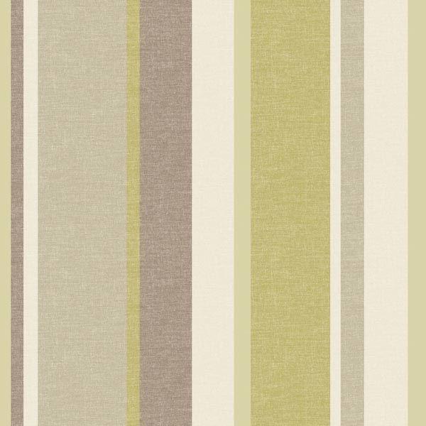 Raya Green Linen Stripe