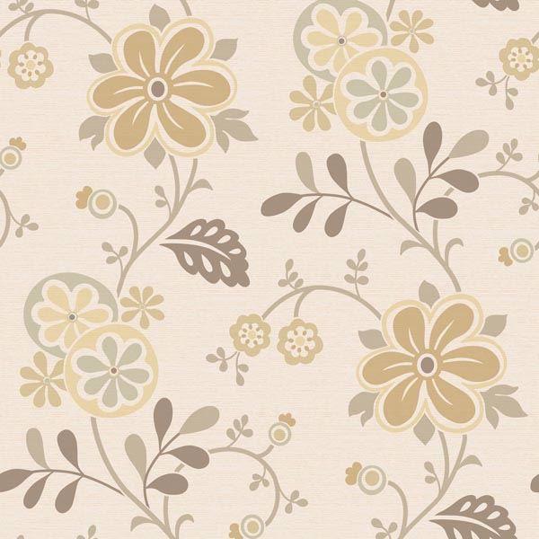Amelie Beige Modern Floral Trail