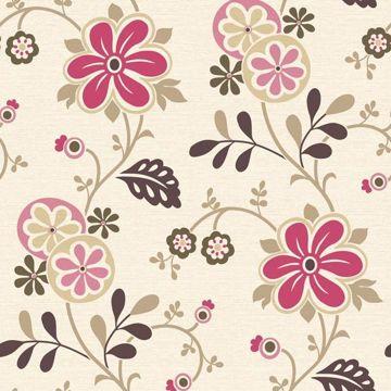 Amelie Pink Modern Floral Trail