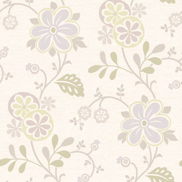 Amelie Purple Modern Floral Trail