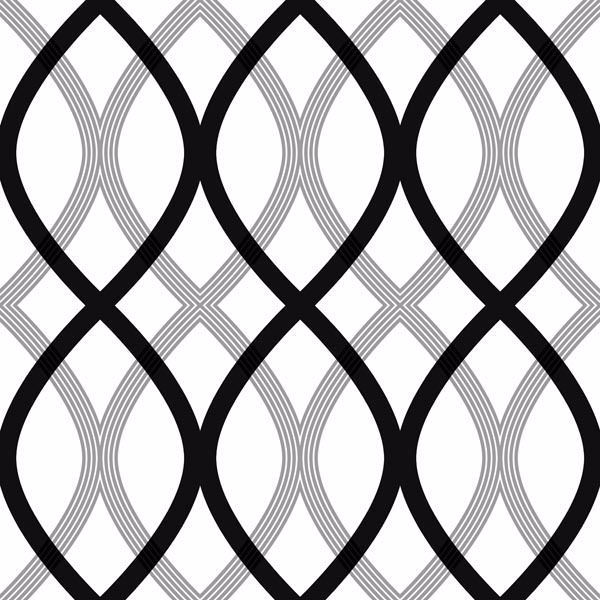 Contour Black Geometric Lattice