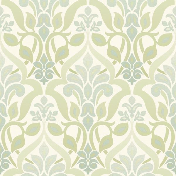 2535-20643 Green Ombre Damask - Fusion
