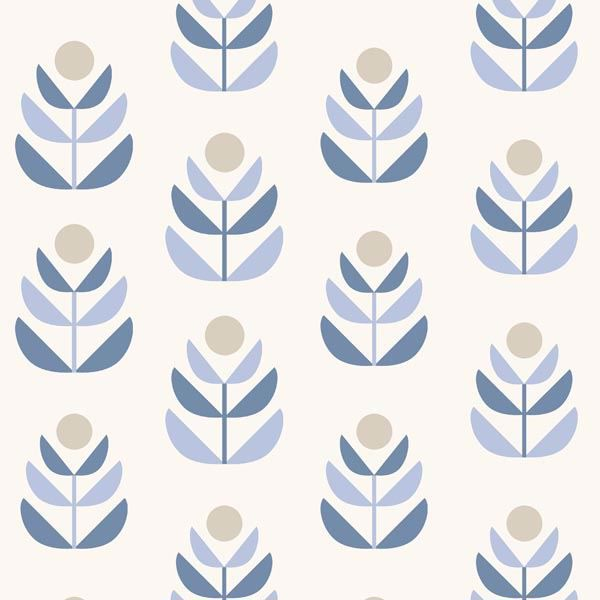 Oslo Blue Geometric Tulip