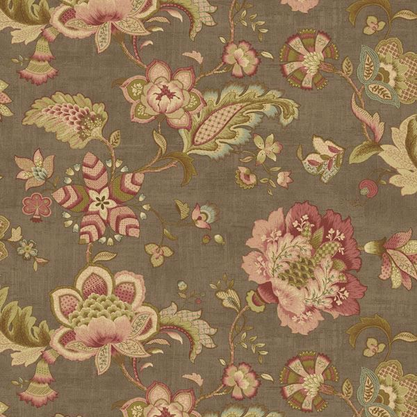 Namaste Brown Jacobean Floral