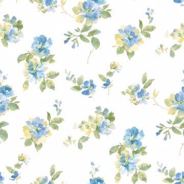 Captiva Blue Watercolor Floral