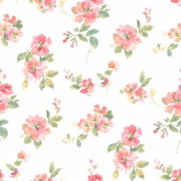 Captiva Peach Watercolor Floral