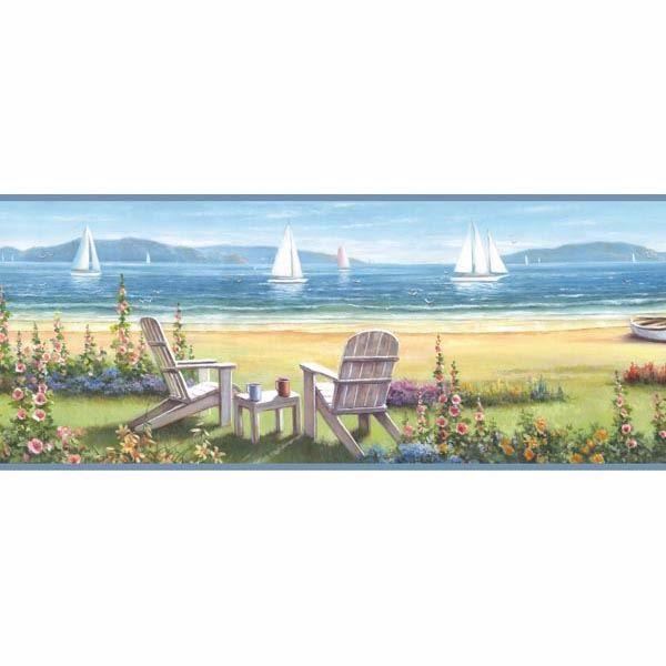 Barnstable Blue Seaside Cottage Border
