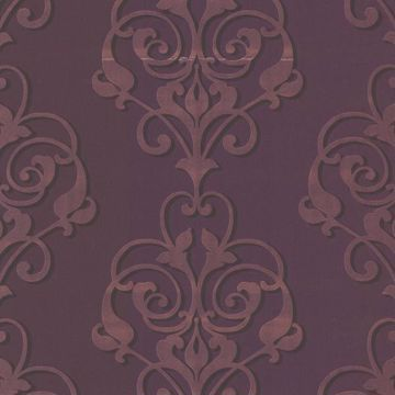 Aeneas Purple Modern Damask