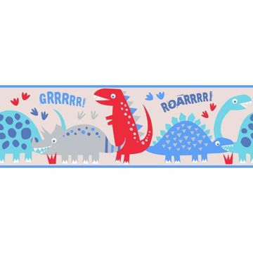 Dino Blue Peel and Stick Border