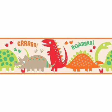 Dino Red Peel and Stick Border