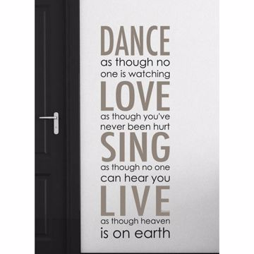 Dance Love Sing Wall Quote