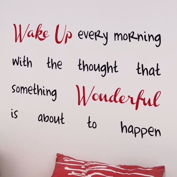 Wake Up Wall Quote