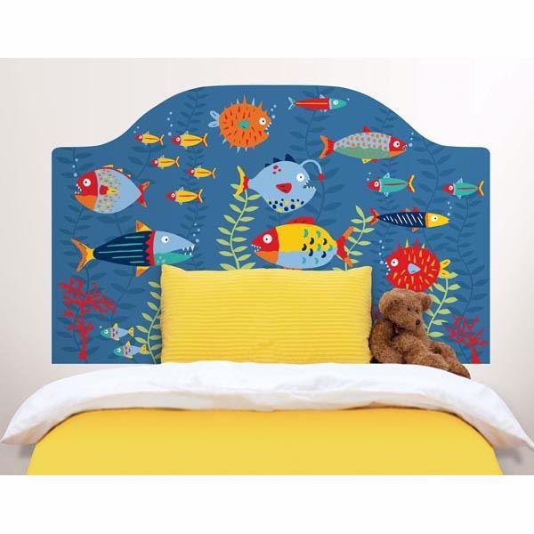 Fish Tales Twin Headboard