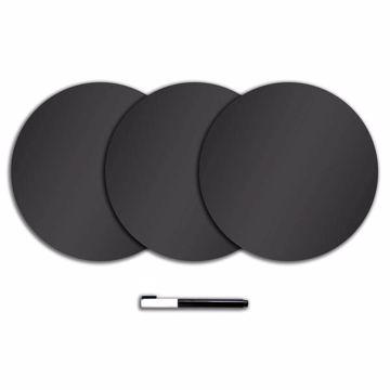 Charcoal Black Dry Erase Dots