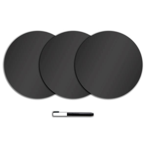 Charcoal Black Dry Erase Dots