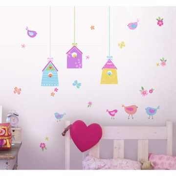 Bird Houses Wall Stickers