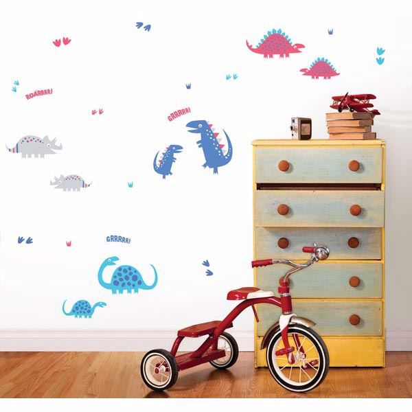 Dino Blue Wall Stickers