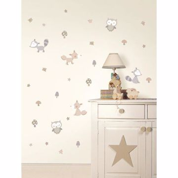 Forest Friends Neutral Wall Stickers