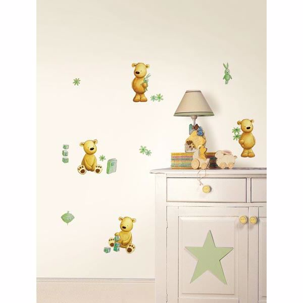 Teddy Bear Green Wall Stickers