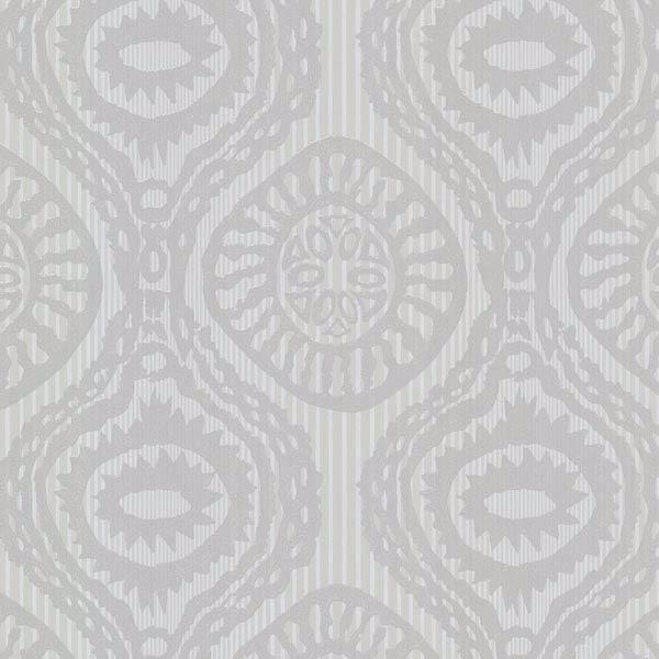 Marrakech Grey Medallion Stripe