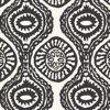 Marrakech Black Medallion Stripe