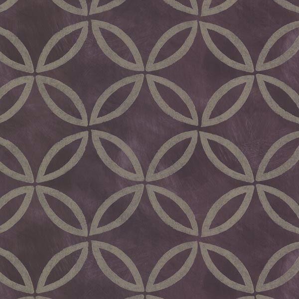 Cloverleaf Purple Geometric