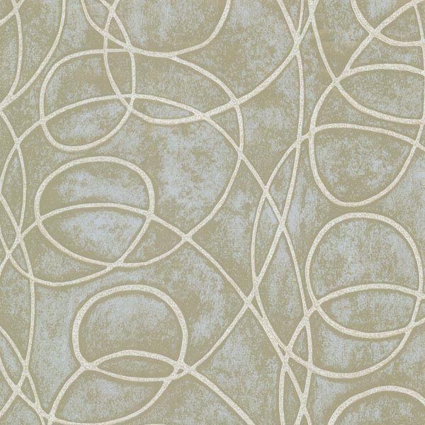Novia Green Geometric Swirl