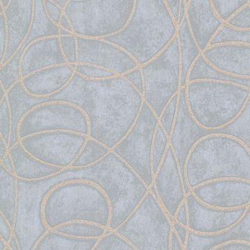 Novia Blue Geometric Swirl