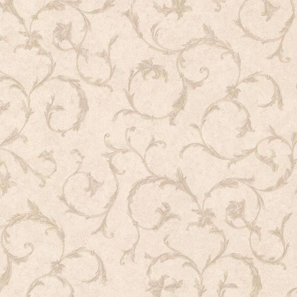 Clover Beige Acanthus Scroll