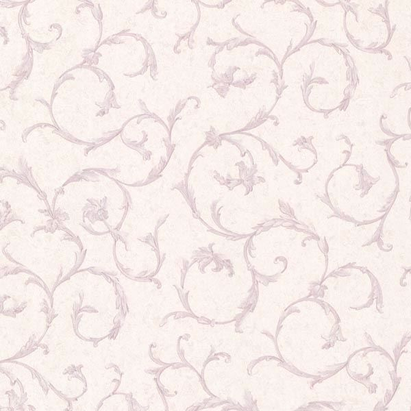 Clover Lavender Acanthus Scroll